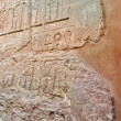 Stock Photo: Pharaoh temple - hieroglyphs on wall