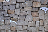 Old brick wall - ancient natural background — Stock Photo