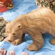 Stock Photo: Wooden cutout of bear