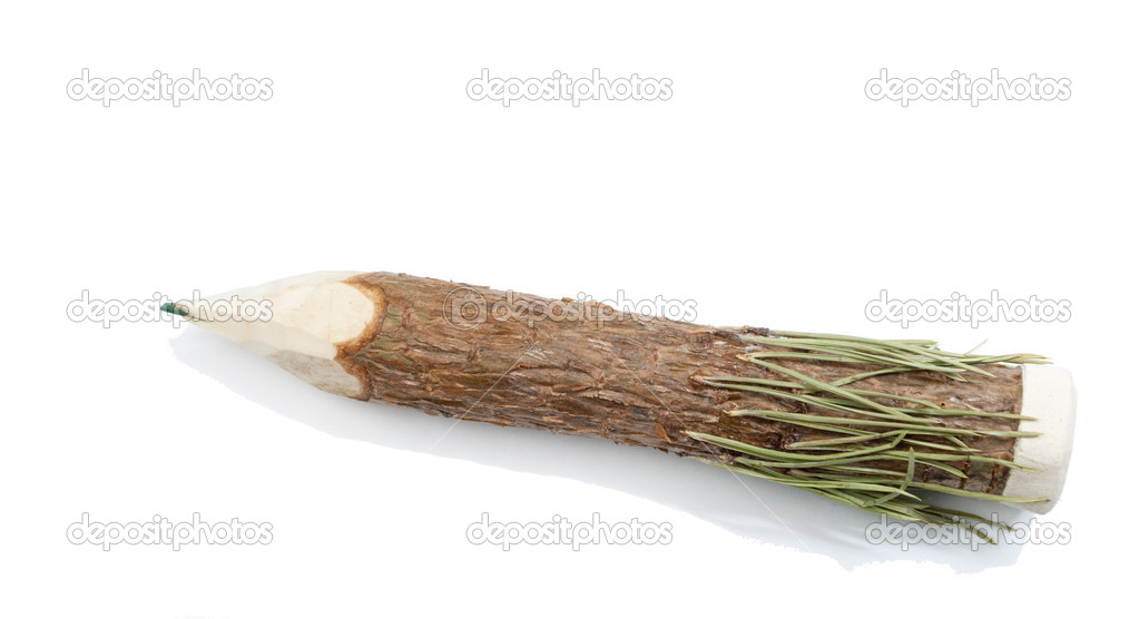 Wooden pencil on white background — Stock Photo #2874667