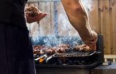 Cuisson barbecue — Photo