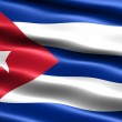 Flag of the Republic of Cuba — Stock Photo
