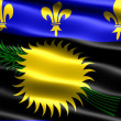 Stock Photo: Flag of Guadeloupe