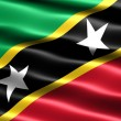 Flag of Saint Kitts and Nevis — Stock Photo #2837189