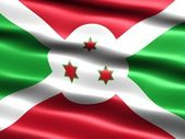 Bandeira do burundi — Fotografia Stock