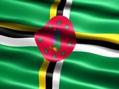 Flag of Dominica — Stock Photo