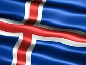 Flag of Iceland — Foto Stock