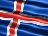 Flag of Iceland — Stock Photo