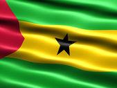 Flag of Sao Tome and Principe — Stock Photo