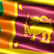 Flag of Sri Lanka - Stock Photo