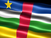 Flag of the Central African Republic — Stock Photo