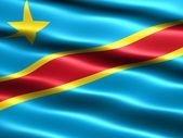 Flag, Democratic Republic of the Congo — Stock Photo
