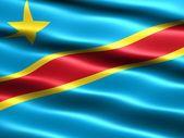 Flag, Democratic Republic of the Congo — Stock Photo