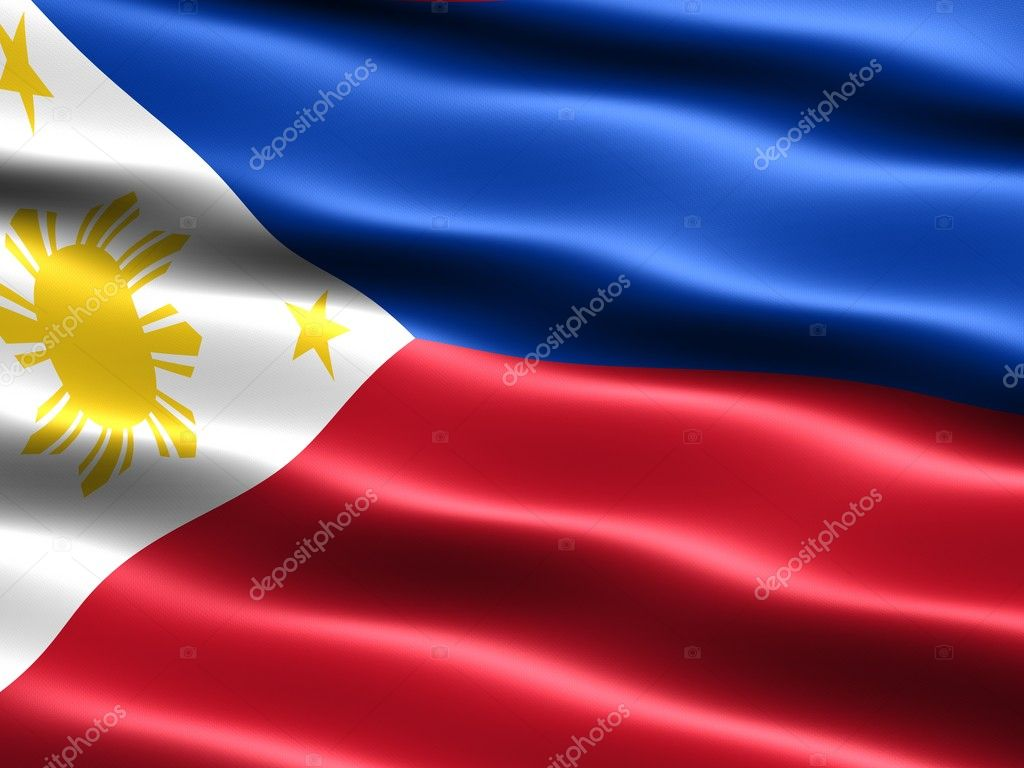 Flag of the Philippines, computer generated illustration with silky appearance and waves — Stock Photo #2845710