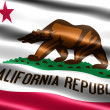 Flag of the state of California - Stock Photo