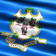 Flag of the state of Connecticut - Stock Photo