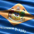 Flag of the state of Delaware - Stock Photo