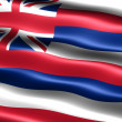 Flag of the state of Hawaii - Stock Photo