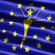 Flag of state of Indiana — Stock Photo #2853084