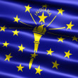 Flag of the state of Indiana — Stock Photo