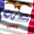 Flag of the state of Iowa - Stock Photo