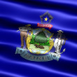 Stock Photo: Flag of the state of Maine
