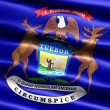 Flag of the state of Michigan - Stock Photo