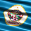 Flag of the state of Minnesota - Stock Photo