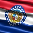 Flag of the state of Missouri - Stock Photo