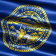 Flag of the state of Nebraska - Stock Photo