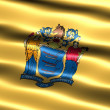 Stock Photo: Flag of state of New Jersey