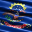 Flag of the state of North Dakota - Stock Photo