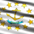 Flag of the state of Rhode Island - Stock Photo
