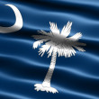 Flag of the state of South Carolina - Stock Photo