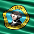 Stock Photo: Flag of the state of Washington