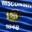 Flag of state of Wisconsin — Stock Photo #2854959