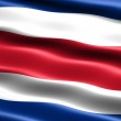 Flag of the Republic of Costa Rica — Stock Photo