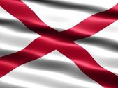 Flag of the state of Alabama — Stock Photo