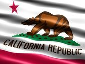 Flag of the state of California — Stock Photo