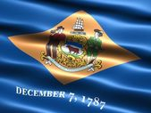 Flag of the state of Delaware — Stock Photo