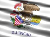 Flag of the state of Illinois — Stock Photo