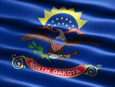 Flag of the state of North Dakota — Stock Photo