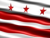 Bandeira de washington dc. — Fotografia Stock