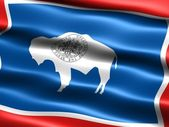 Flag of the state of Wyoming — Stock Photo