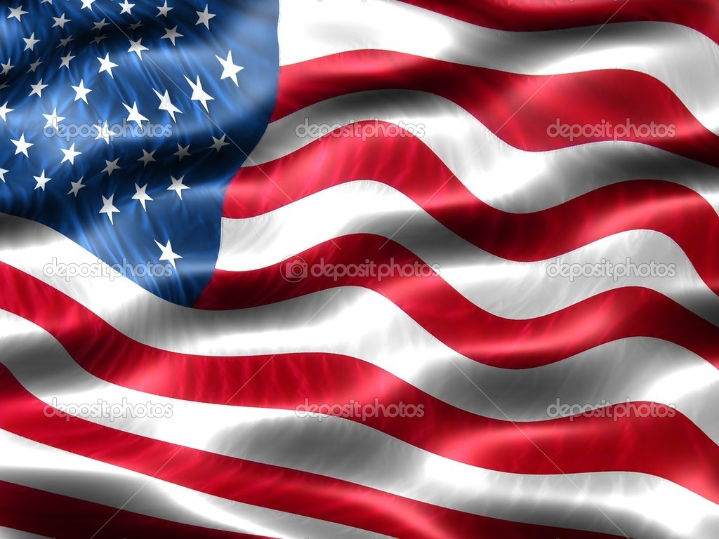 Computer generated illustration of the flag of the United States of America with silky appearance and waves — Foto Stock #2854709