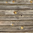Weathered wood planks w/ nails and knots — Stock Photo