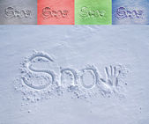 Snow in the snow — Stockfoto
