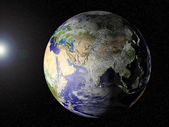 Our planet in space (Asia view) — ストック写真