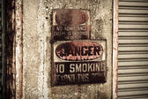 Danger No Smoking Sign — Stock Photo