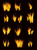 Fire fllames — Stock Photo